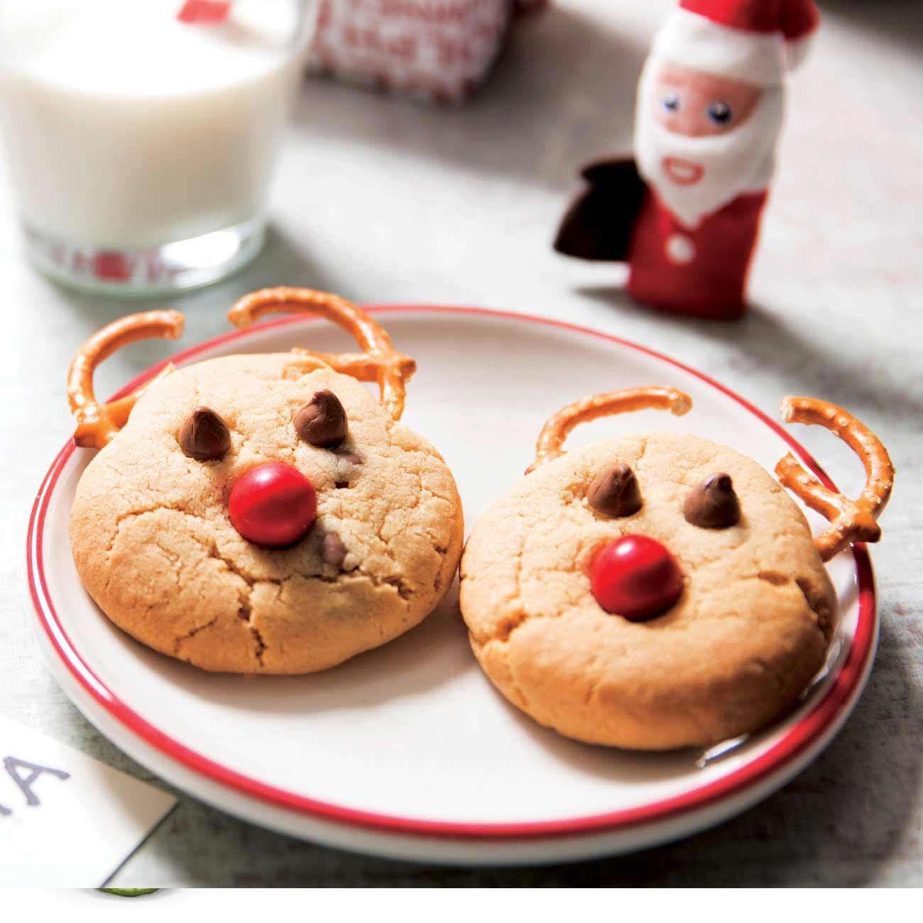 Rudolph Choc Chip Cookies