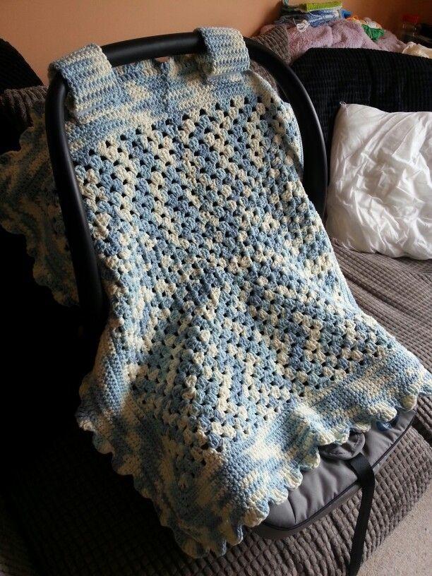 Crochet Baby Car Seat Cover Crochet Baby Baby Blanket