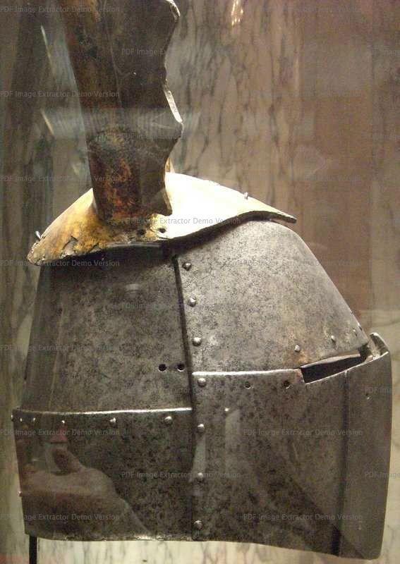 Great Helm, Hofjagd- und Ruestkammer (Kunsthistorisches Museum), Vienna  1330-1360 ref_arm_1488_008 The crest is a XVth century addition.