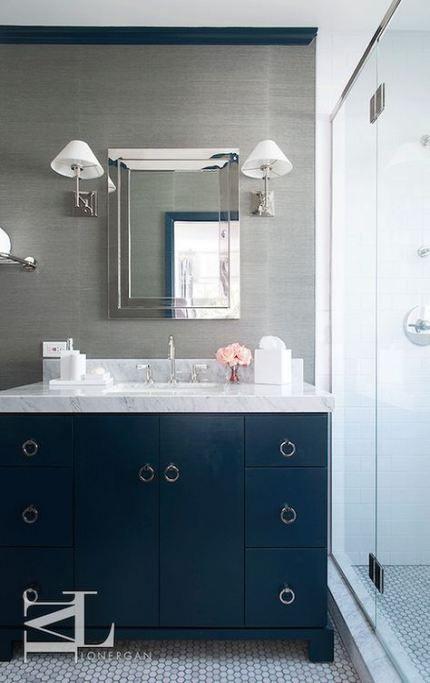 trendy bath room vanity navy blue walls 42 ideas bath