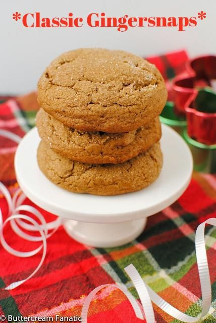 Thinking about holiday cookies? Don't miss these classic gingersnaps - the best you'll ever have! These are easily adaptable to be gingerbread men too.