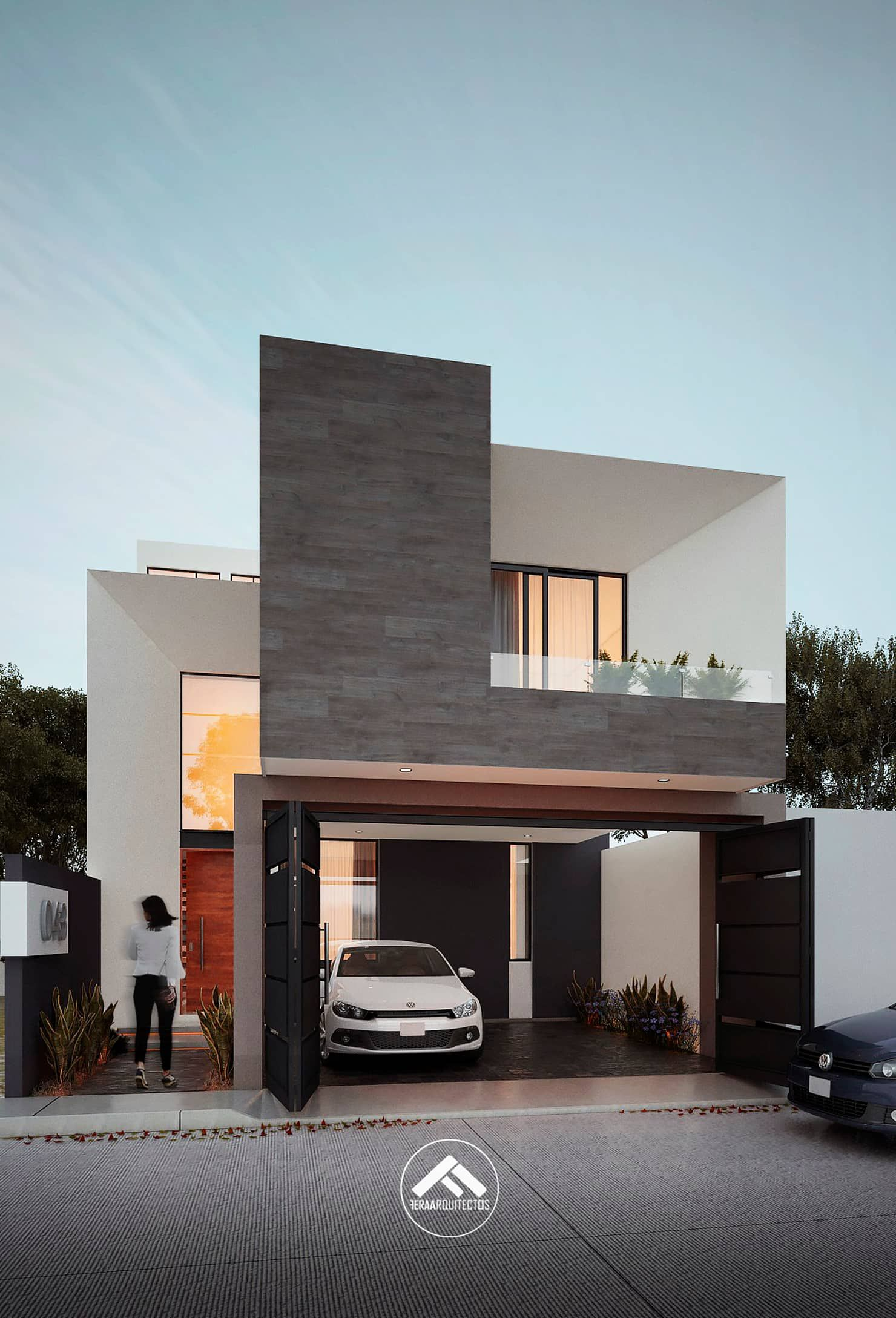 Arquitectura Fachadas De Casas Modernas Casas Modernas: Casa Mlan: Casas De Estilo Por Feraarquitectos En 2019