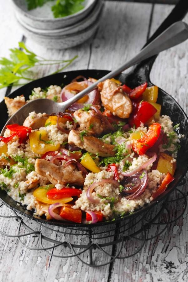 Photo of Quinoa and pepper pan with chicken