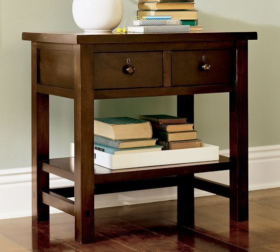 farmhouse 2 drawer bedside table pottery barn home pinterest bedroom farmhouse and. Black Bedroom Furniture Sets. Home Design Ideas