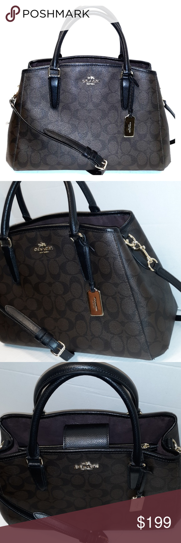 Like New Coach Signature Margot Carryall Satchel 100% Authentic Style   55932 Like new  b7e52d6a37