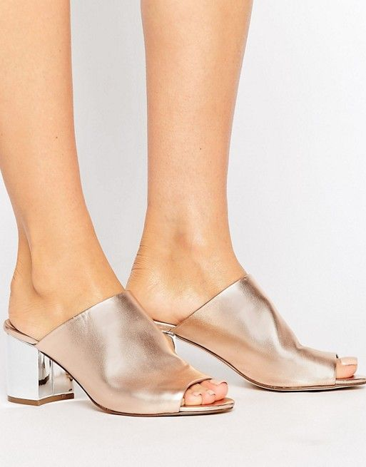 de9543489205 River Island Mule With Metallic Heel in 2019