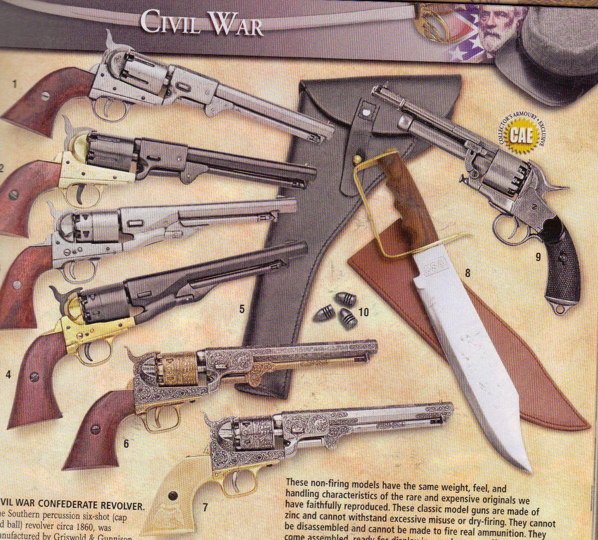 Civil War Pistols Diagram