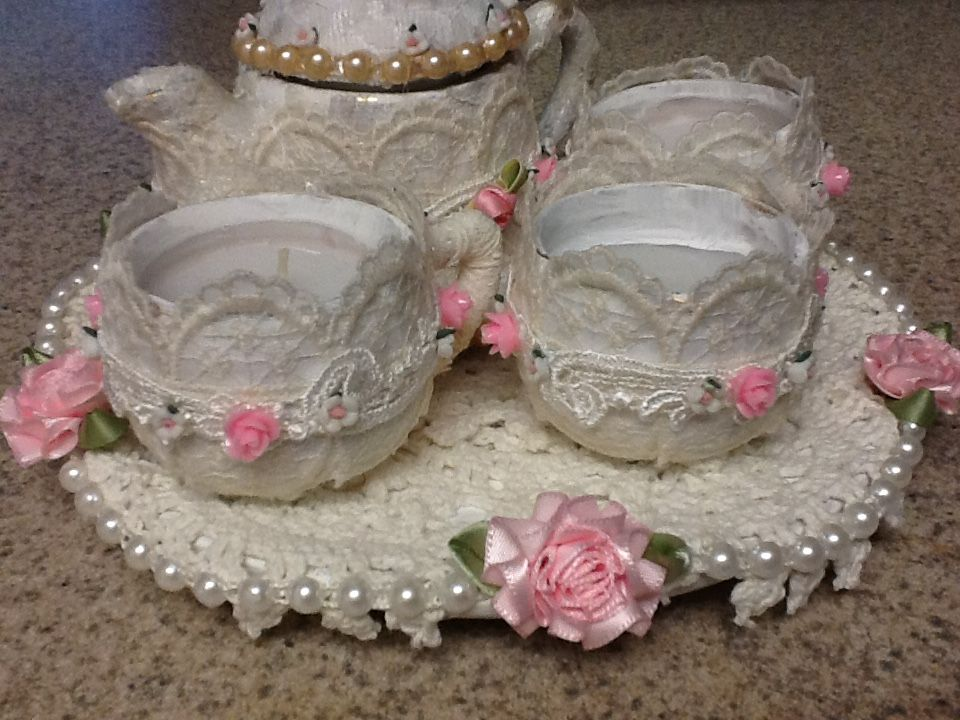 candle tea cups I altered