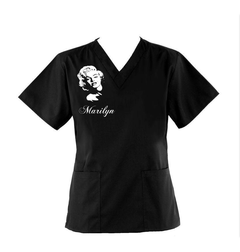 Marilyn Monroe Scrub Top