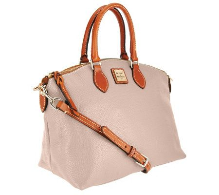 Dooney & Bourke Pebble Leather Domed Satchel... such a pretty neutral pink shade