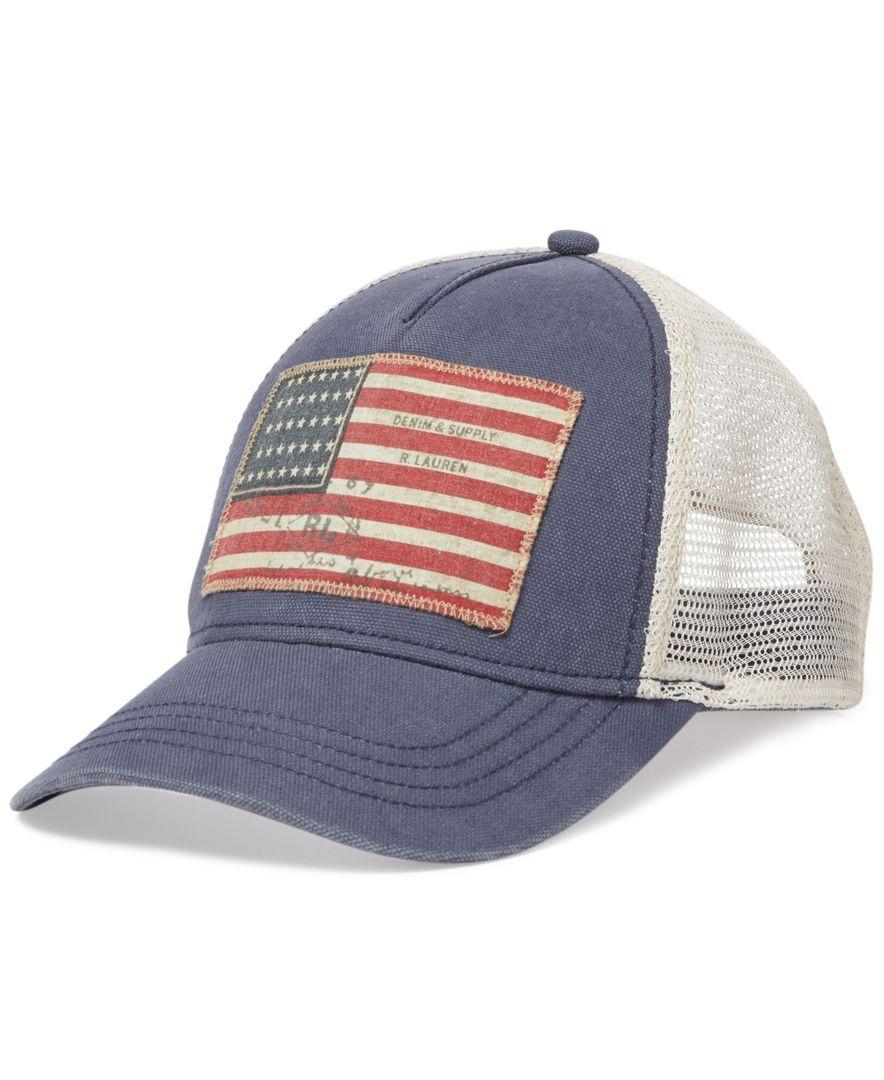 Denim Supply Ralph Lauren Flag Baseball Cap Hats Gloves Scarves Men Macy S Denim And Supply Ralph Lauren Men Baseball Cap