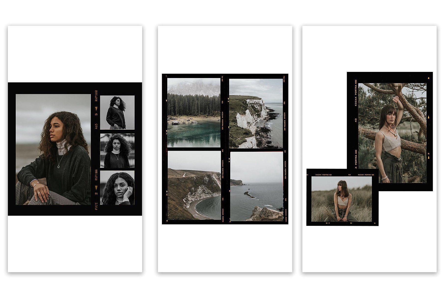 Film Frames Photoshop Instagram Template Instagram