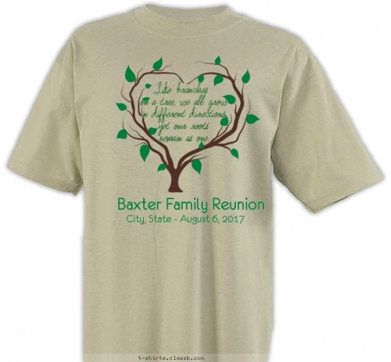 Heart Shaped Tree Family Reunion Design Sp4799 Family Reunion Shirts Family Reunion Shirts Designs Reunion Shirts