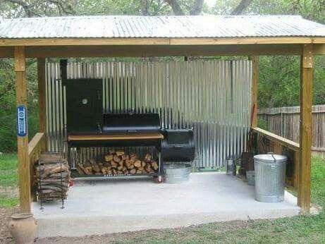 BBQ Hut   Backyard kitchen, Bbq hut, Build outdoor kitchen