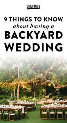 11 Things Couples Should Know Before Planning A Backyard ...