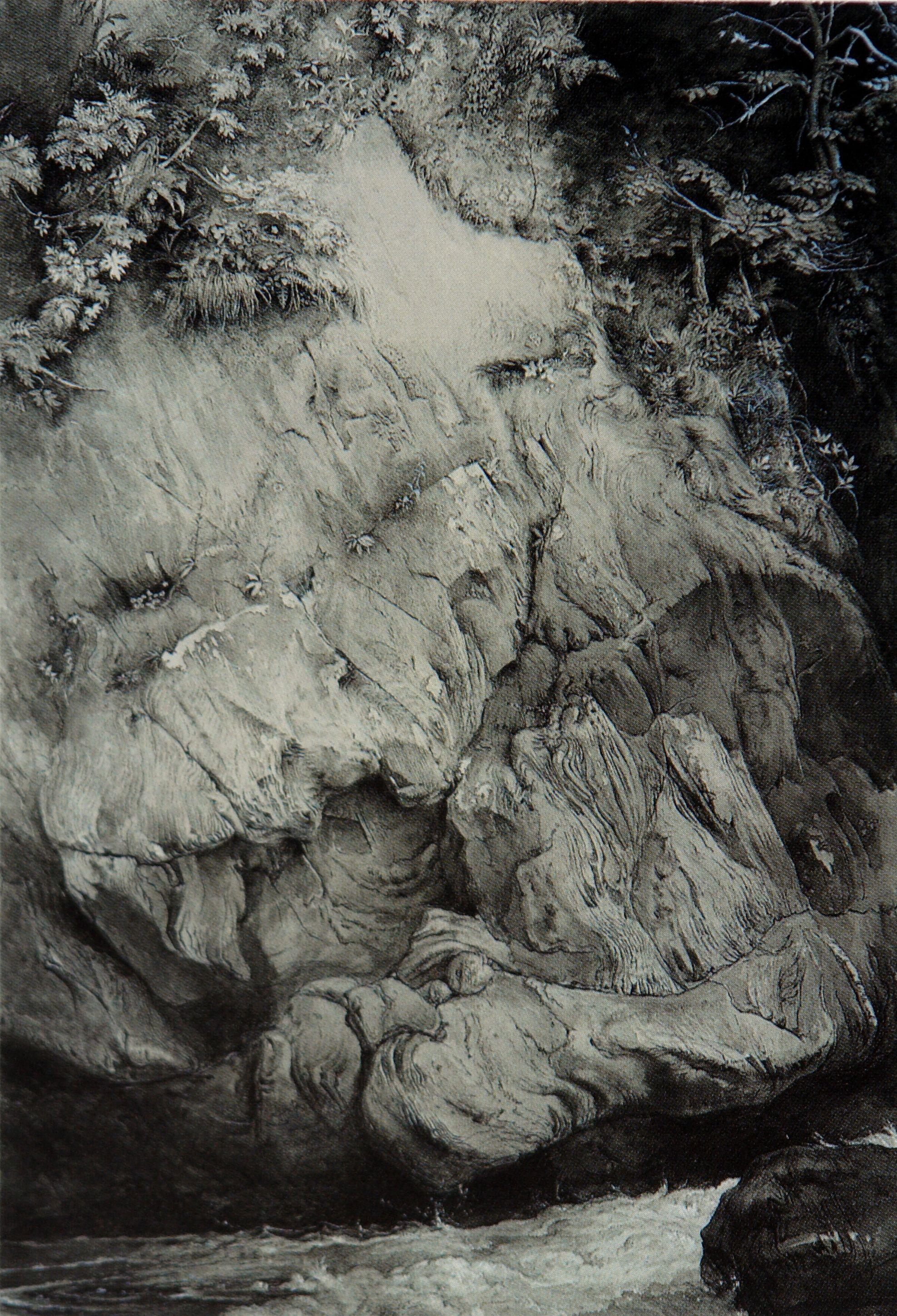 John Ruskin - study of gneiss rocks - 1853