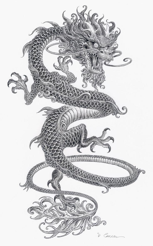 17 mejores ideas sobre Tatuajes De Dragones Japoneses en Pinterest ...