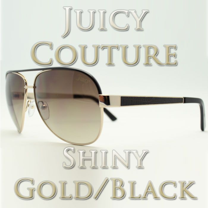 Juicy Couture Regal/S Shiny Gold/Black 0FR5 Sunglasses New