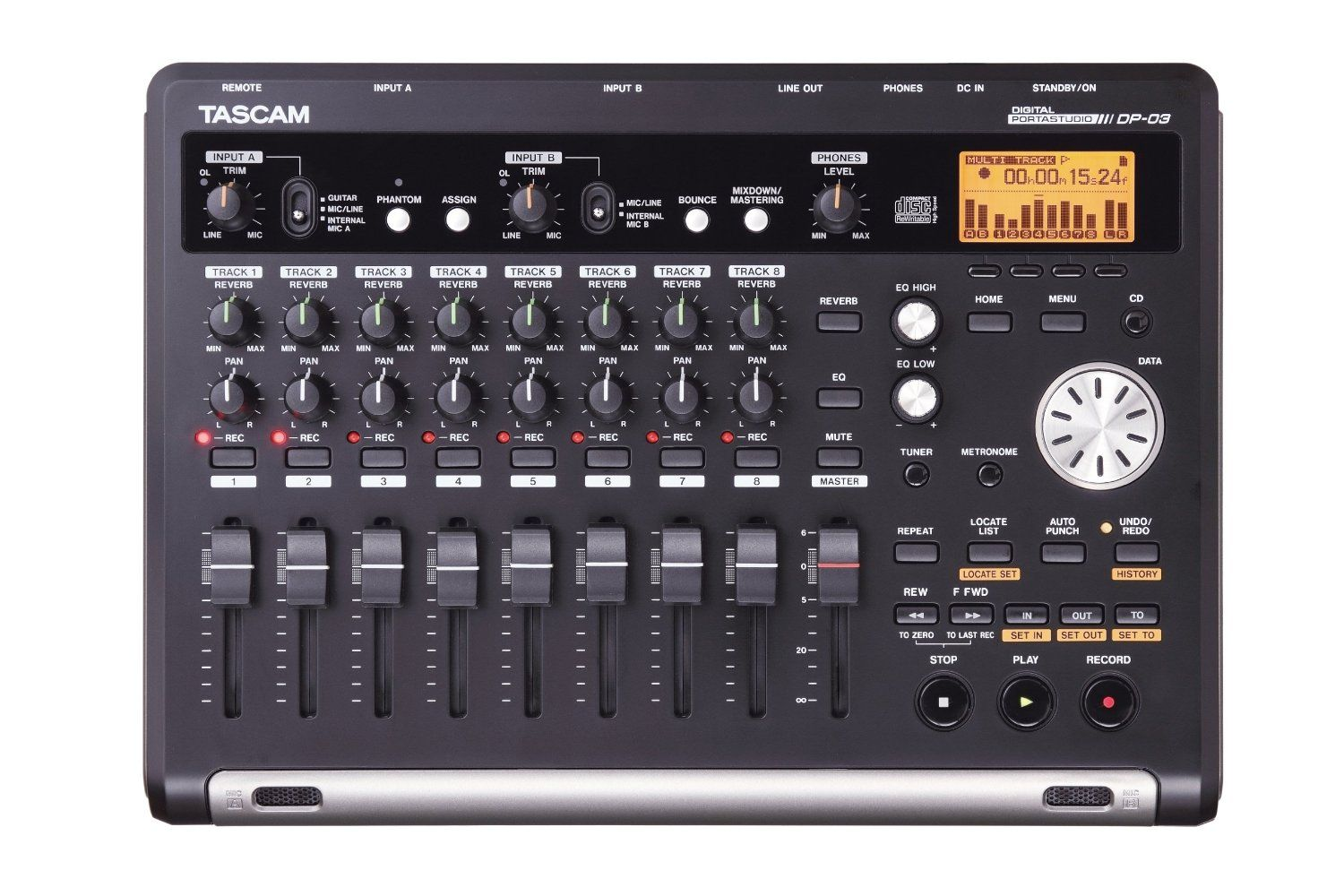 Tascam Dp 03 Digital 8 Track Recorder 249 95