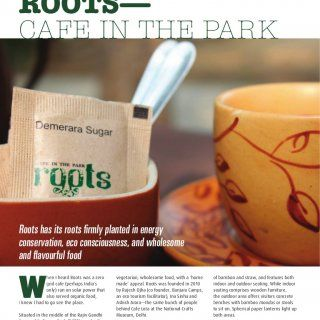 By rutaksha rawat roots—cafe in the park