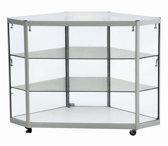 DCN3-600 Corner Jewellery Display Counter | Tempered glass ...