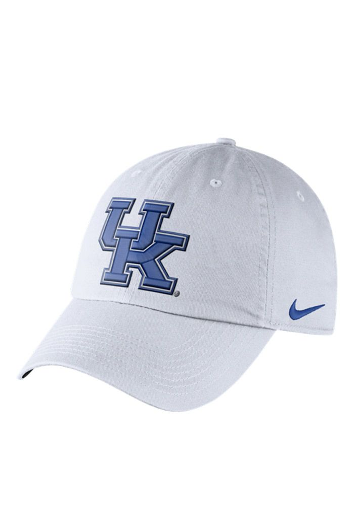 premium selection 35833 48daf Nike Kentucky Wildcats Mens White DF H86 Authentic Adjustable Hat, White,  96% POLYESTER