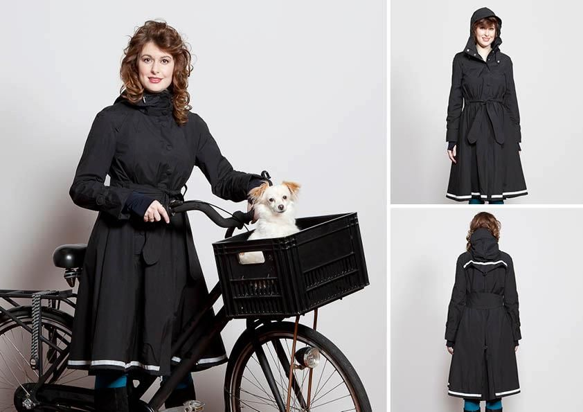 Cycling rain couture from Madame de Pé in Amsterdam