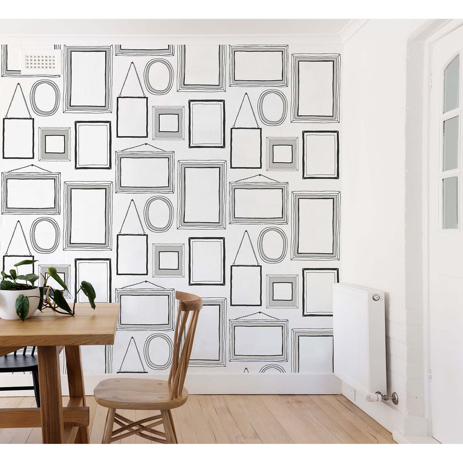 Crown Picture Wall Black White Wallpaper At Homebase C