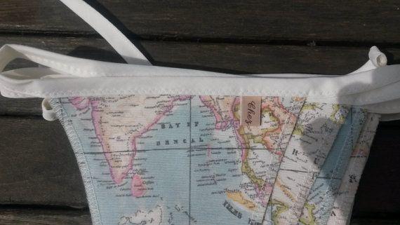 map fabric bunting map decor world map decor world by chezlele
