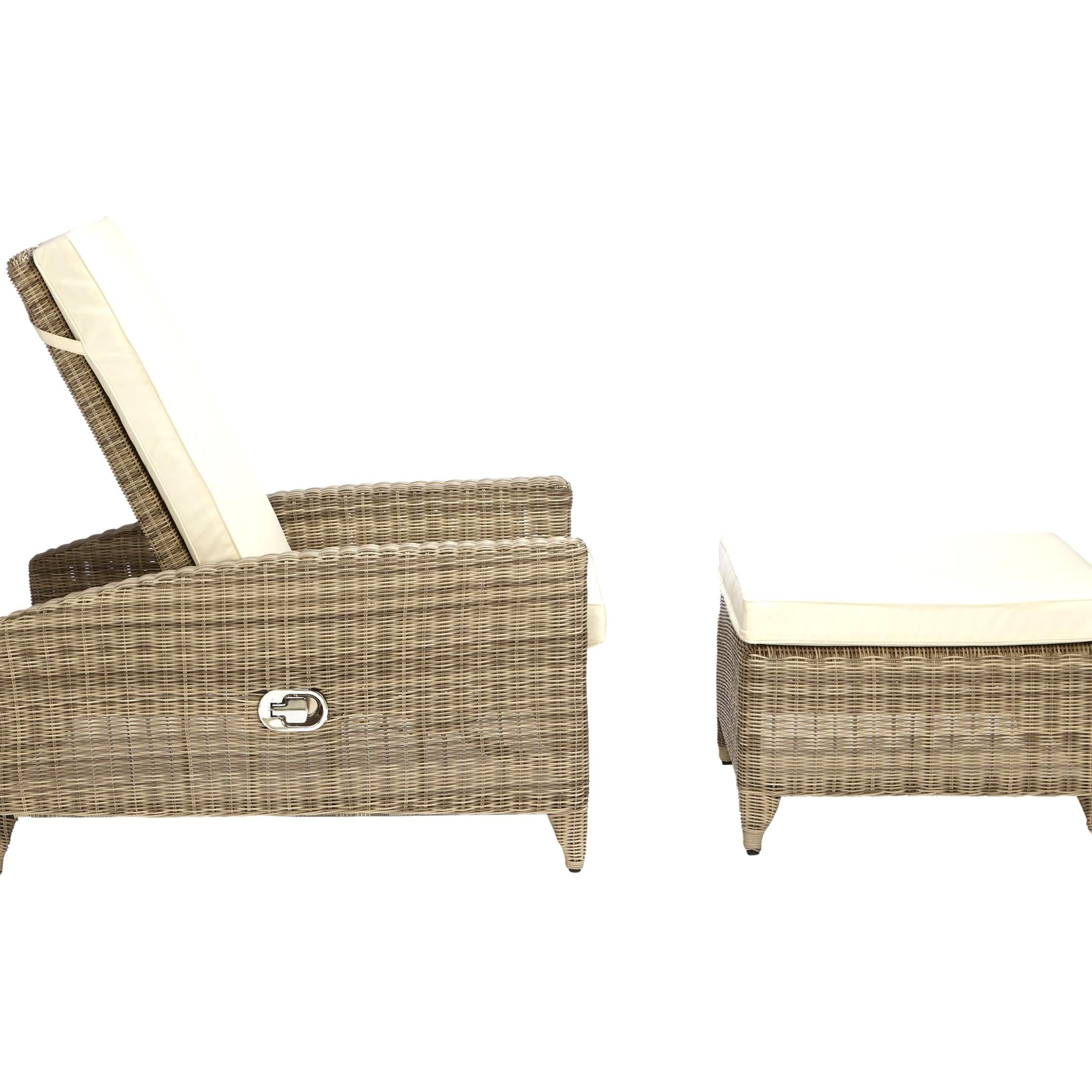Embrace Warm Weather With This Luxe Sunlounger From The John Lewis Partners Dante Range This Lounger Features Four Adjustabl In 2020 Natural Finish Sun Lounger Wicker