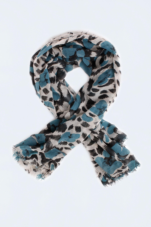 c55b090c152 foulard pour femme delta leopard turquoise Zadig   Voltaire ...