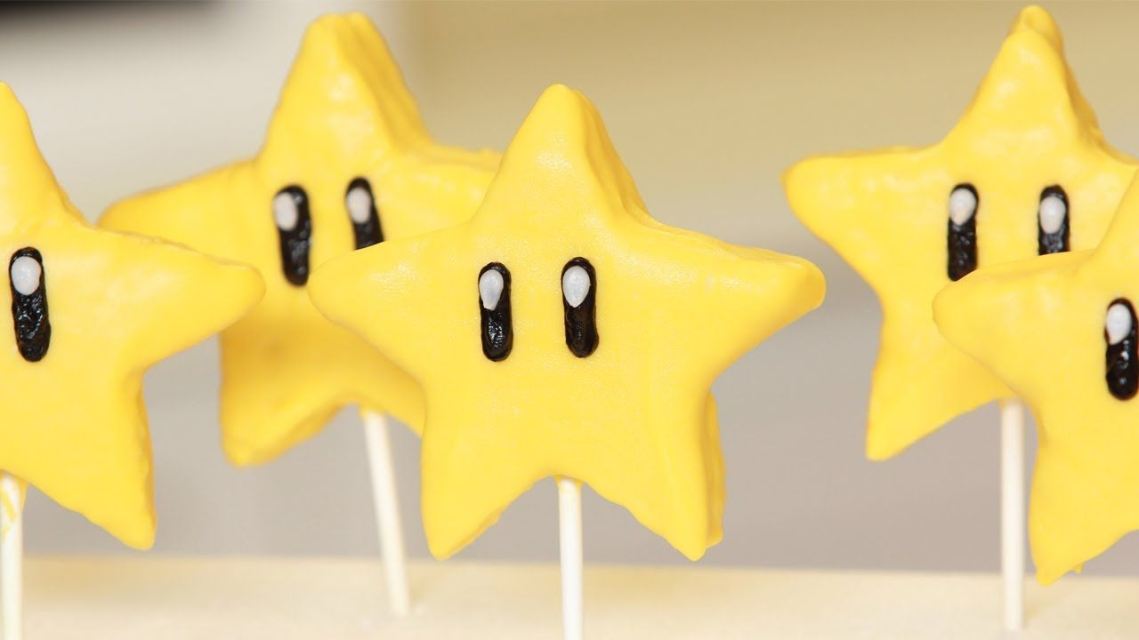 Mario Star Rice Krispy Pops Nerdy Nummies