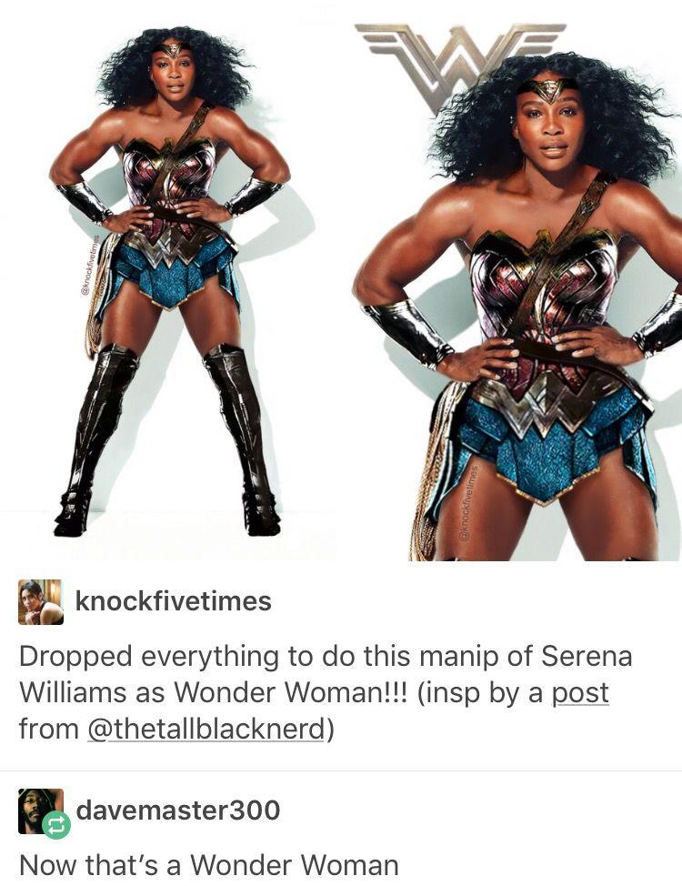 Serena Williams, Wonder Woman, Diana Prince, DC comics, comics