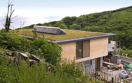 Eco Home Builders building an eco house: raising the roof over our heads | green