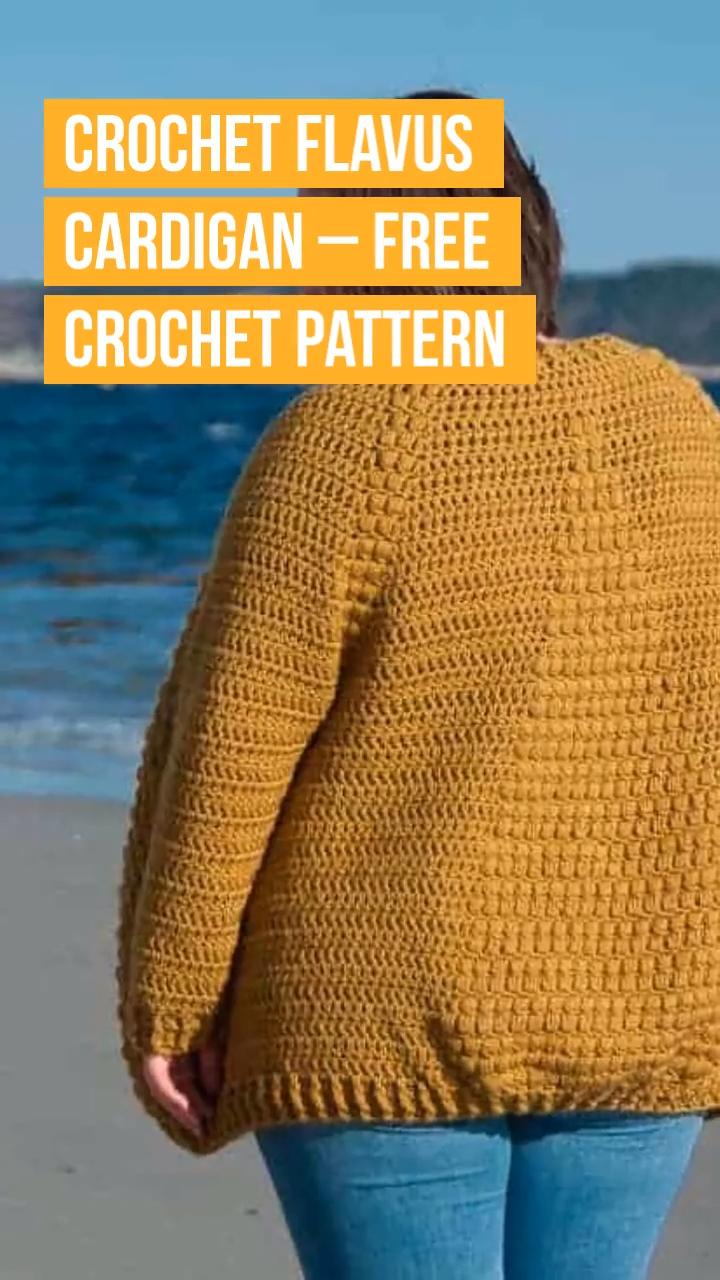 Photo of Crochet Flavus Cardigan – FREE Crochet Pattern