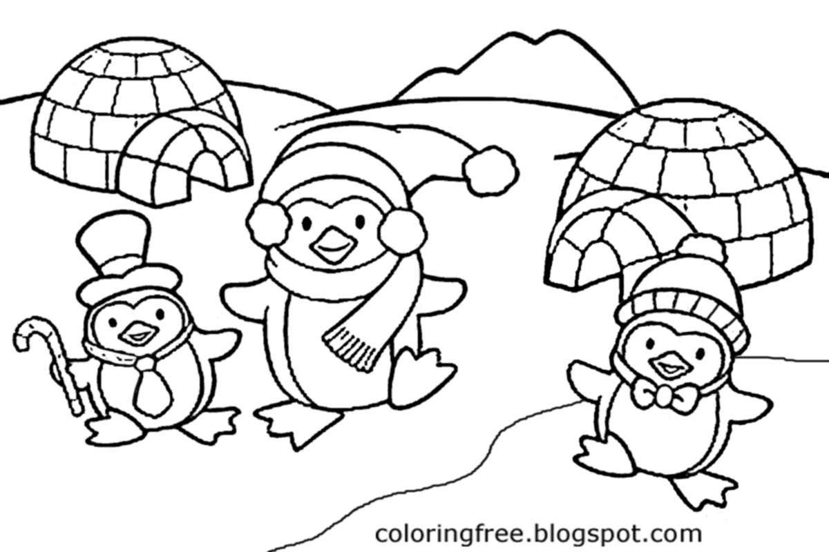 Igloo Coloring Page Free Pages Printable Pictures To Color Kids Drawing Ideas 19 Penguin Coloring Pages Coloring Pages Winter Family Coloring Pages