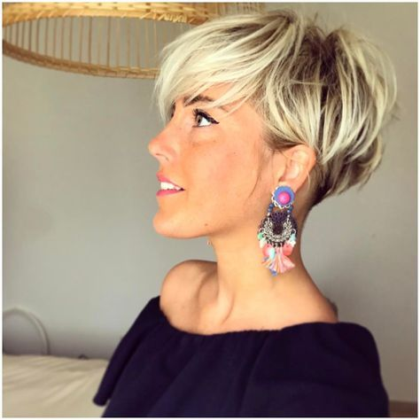 Short Blonde Hairstyles Magnificent Lavieduneblondie  De Ko  Pinterest  Side Cuts Short Hair And