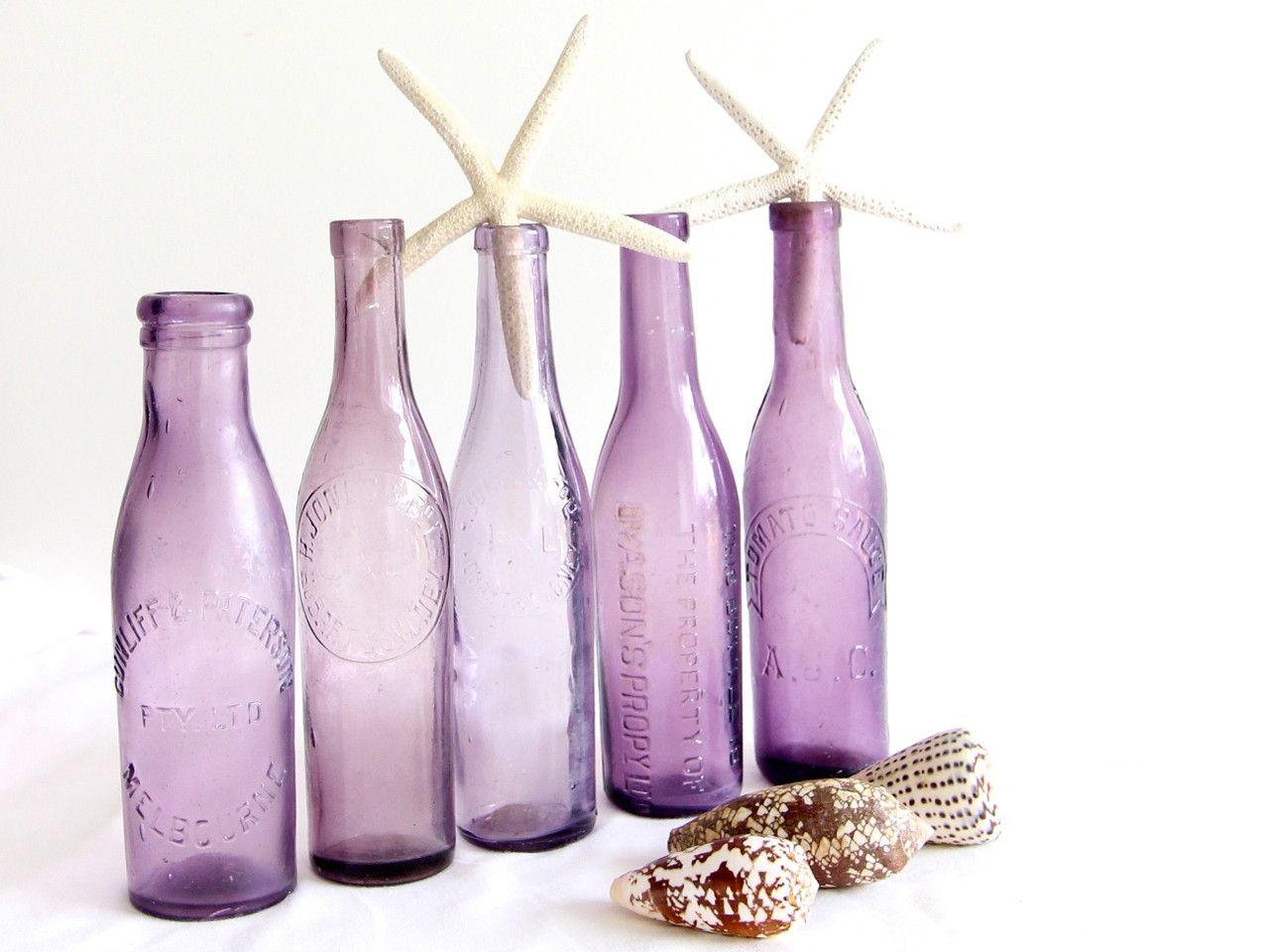 purple bottle stunning purple glass bottles and uniquely australian ...