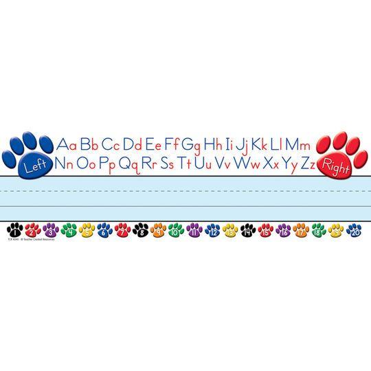 Colorful Paw Prints Alphabet Name