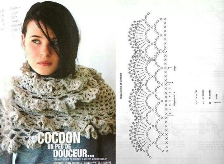 crochet bufanda volantes - Buscar con Google | scarves and Shawls ...