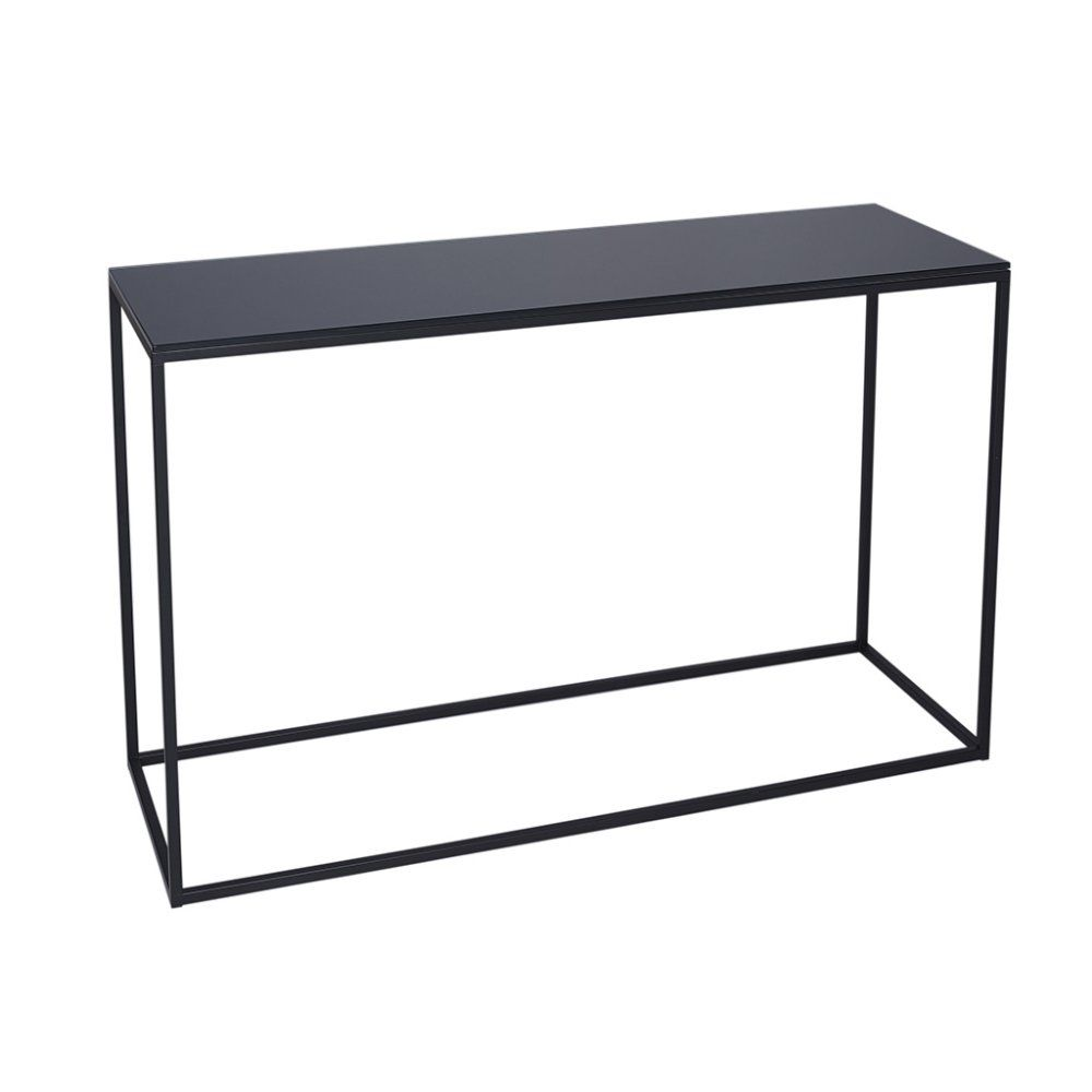 metal hall table. black metal and glass console table hall m