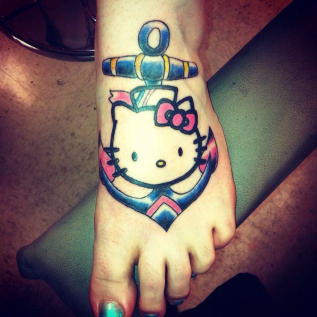 89fc28ca8 Hello Kitty sailor tattoo. My best friend is in the Navy and will LOVE  this!~