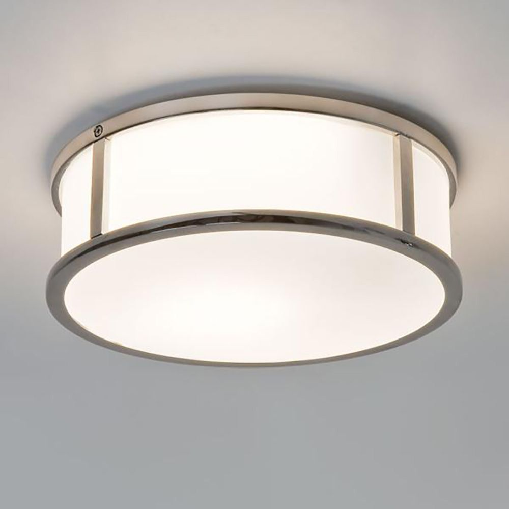 Mashiko Round 230 Flush Ceiling Light Ip44 Astro Asco Lights Interesting Bathroom Ceiling Light Inspiration Design