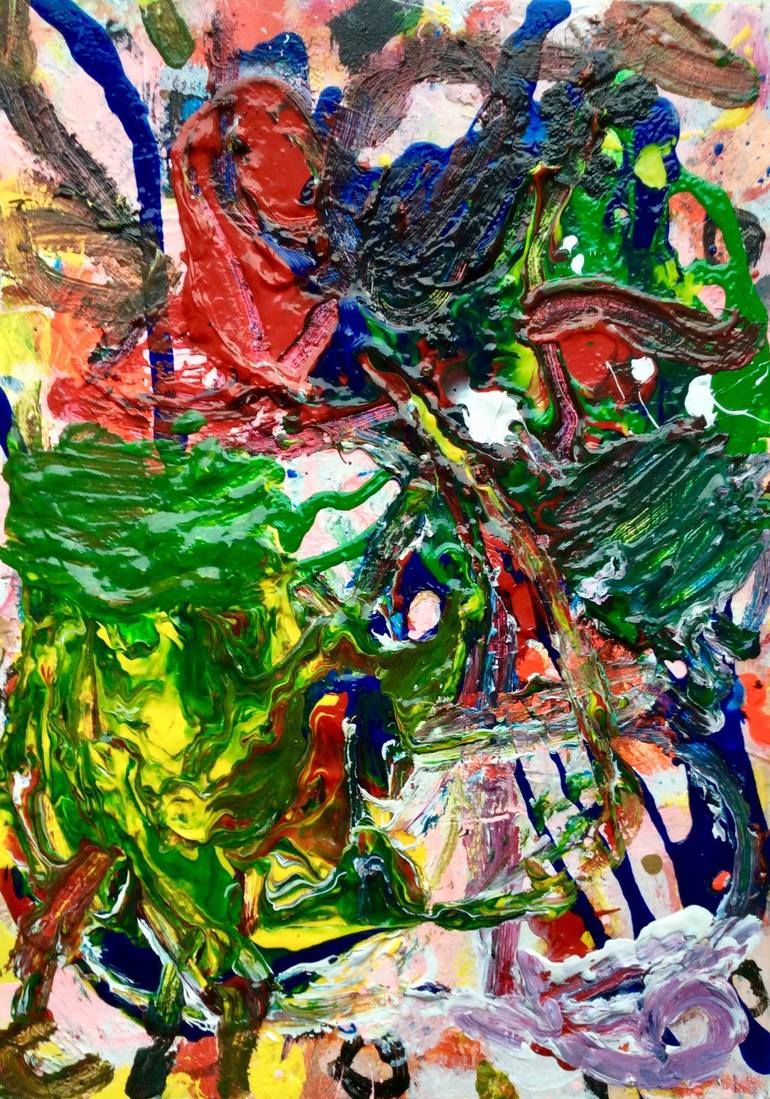 Original Abstract Painting by Philip Alsican Abstract