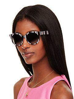 d2d72498a891 melly sunglasses by kate spade new york   Black & White Ball ...