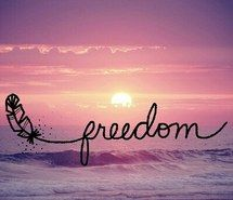 Awesome Inspiring Image Text, Freedom, Sunset, Life, Sun, Quotes, Pink,