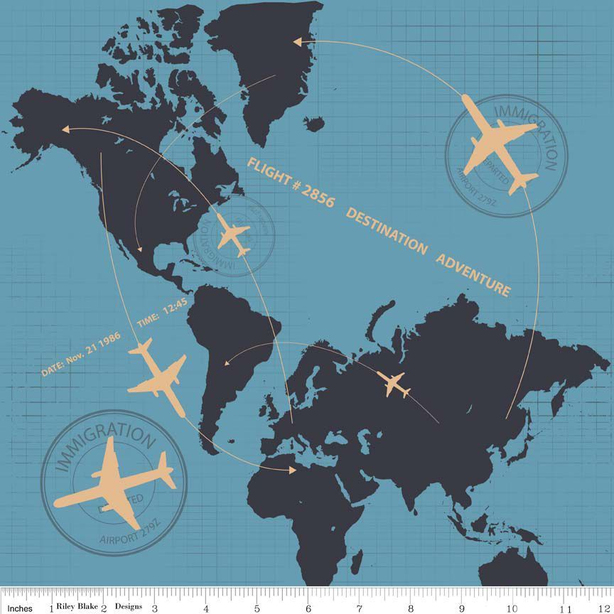Fat quarter detour plane flight path blue cotton quilting fabric fat quarter detour plane flight path blue cotton quilting fabric world atlas gumiabroncs