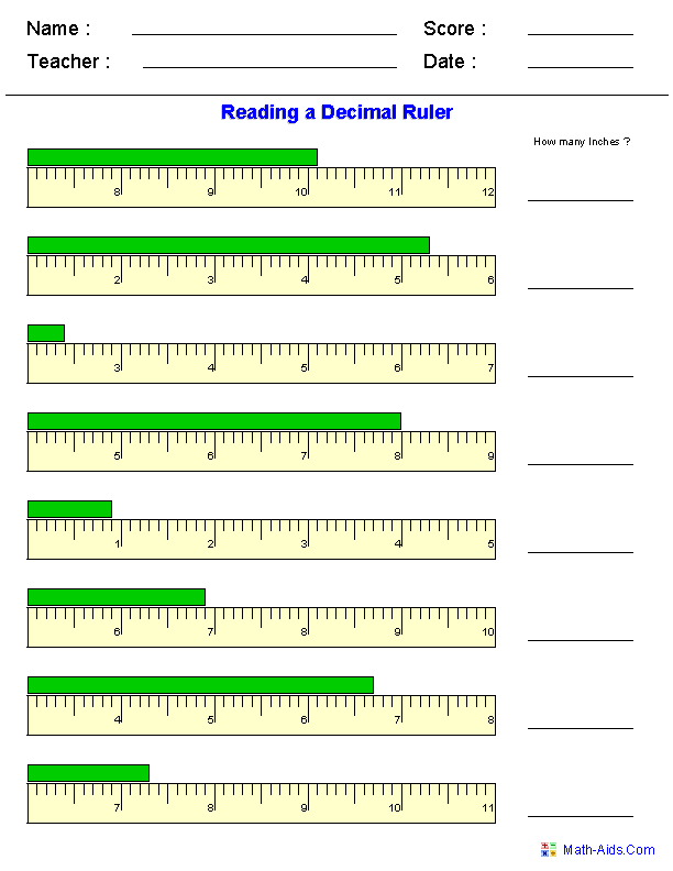 measurement #worksheet Measurement Worksheets | Dynamically Created ...