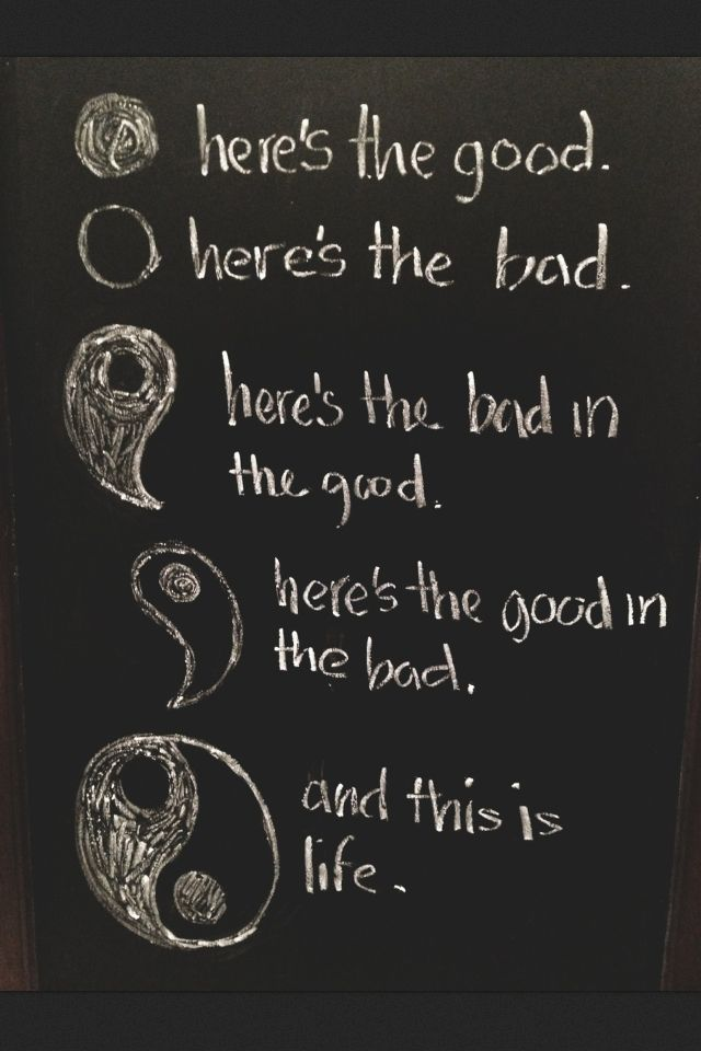 The world isn't separated into the good and the bad. There is good and bad in all of us. It is the part we chose to act on that makes us who we are. (And yes Harry Potter fans this is a not completely correct quote from Harry Potter)