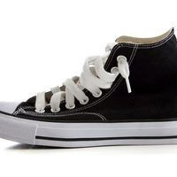 How to Turn High Converse to Low | Black high top sneakers